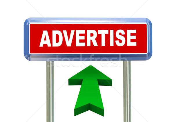 3d arrow road sign - advertise  Stock photo © nasirkhan