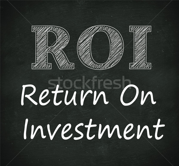 Tableau illustration roi retour investissement design Photo stock © nasirkhan