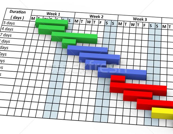 3D グラフ パーセンテージ 進捗 3dのレンダリング クローズアップ ストックフォト © nasirkhan