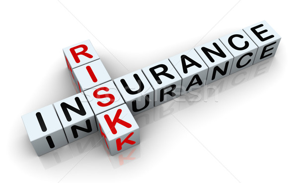 3d crossword of 'insurance risk' Stock photo © nasirkhan