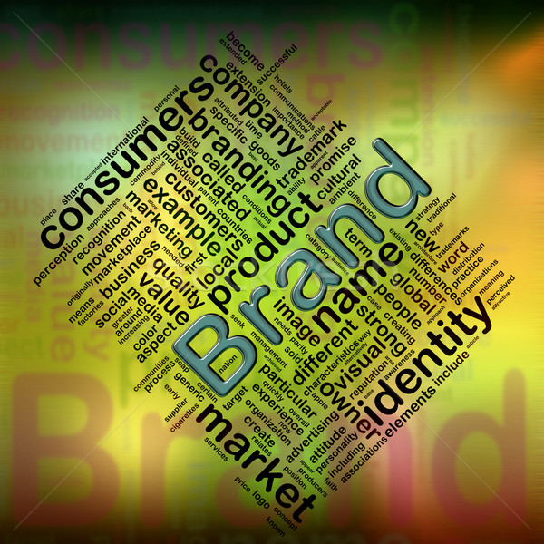 'Brand' wordcloud Stock photo © nasirkhan