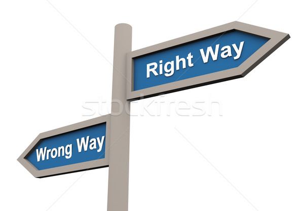 Wrong and right way Stock photo © nasirkhan
