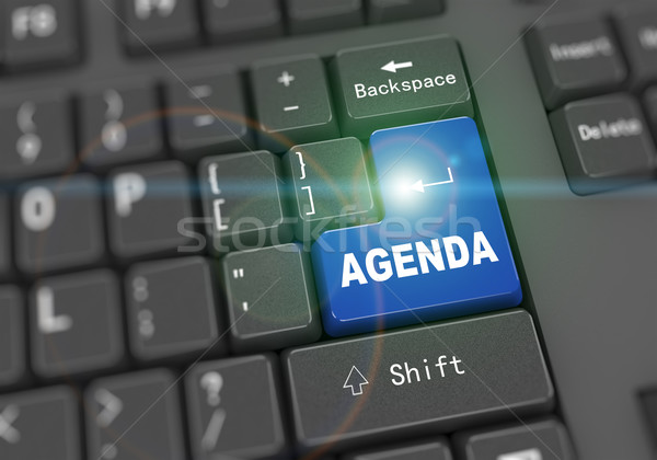 3d keyboard - word agenda Stock photo © nasirkhan
