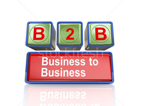 3d boxes of concept of b2b Stock photo © nasirkhan