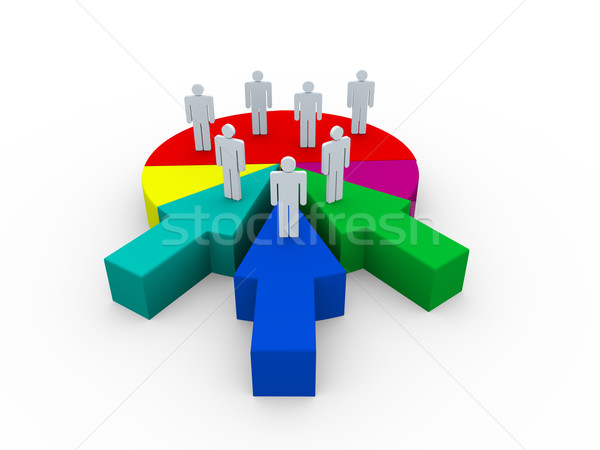 3d business merge Stock photo © nasirkhan