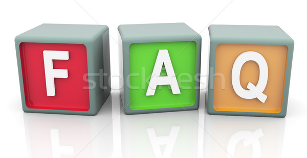 3d colorful text 'faq'  Stock photo © nasirkhan