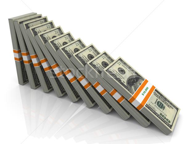 3d falling dollar Stock photo © nasirkhan