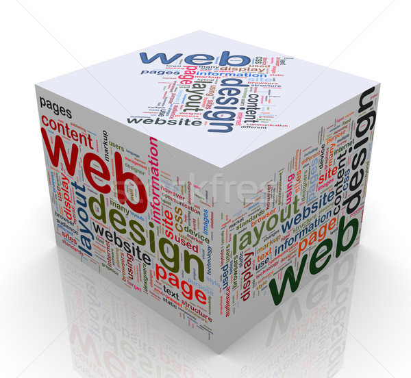 Web design cube 3D design technologie Photo stock © nasirkhan