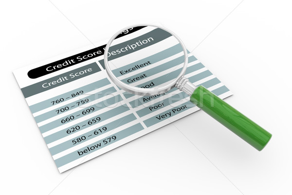 Magnifier and credit score rating Stock photo © nasirkhan