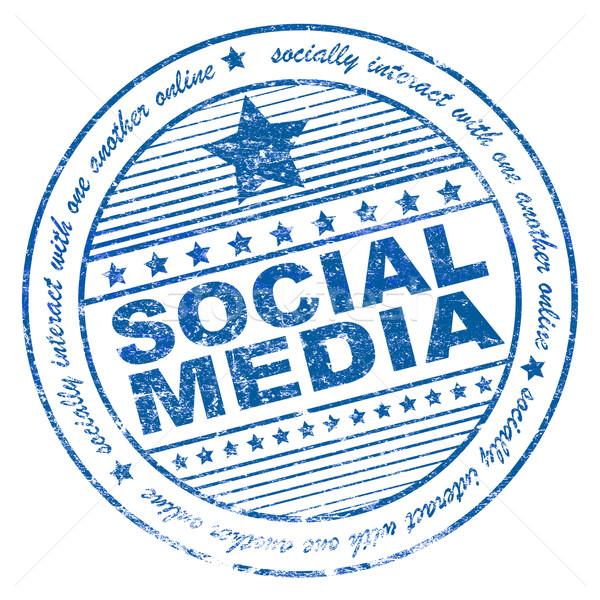 Stock fotó: Grunge · közösségi · média · pecsét · illusztráció · kifejezés · számítógép