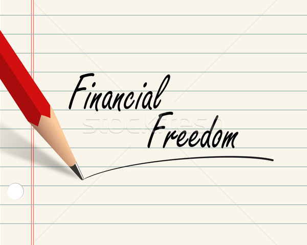 Pencil paper - financial freedom Stock photo © nasirkhan