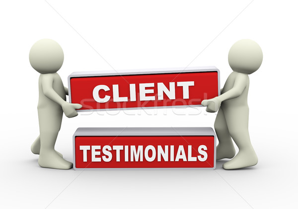 3d people and client testimonials Stock photo © nasirkhan