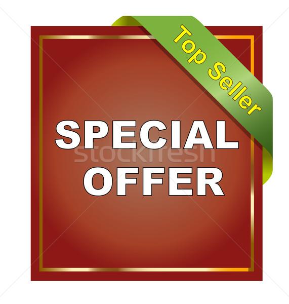 Sticker witte teken web dienst Stockfoto © nasirkhan