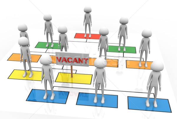 3d vacant position Stock photo © nasirkhan