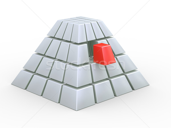 3d cube pyramid Stock photo © nasirkhan