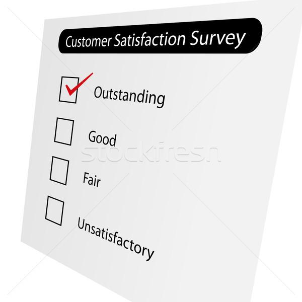 Customer satisfaction rating Stock photo © nasirkhan