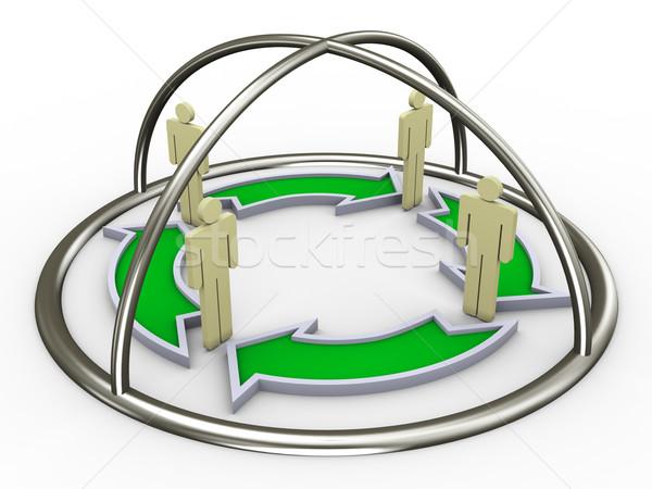 Zdjęcia stock: Business · network · 3d · ludzi · biznesu · sieci · działalności · Internetu