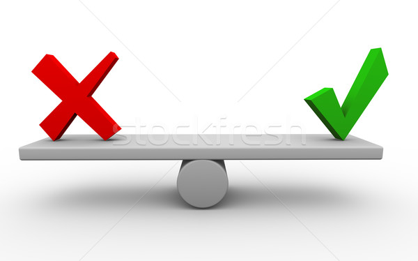 3d yes no balance Stock photo © nasirkhan
