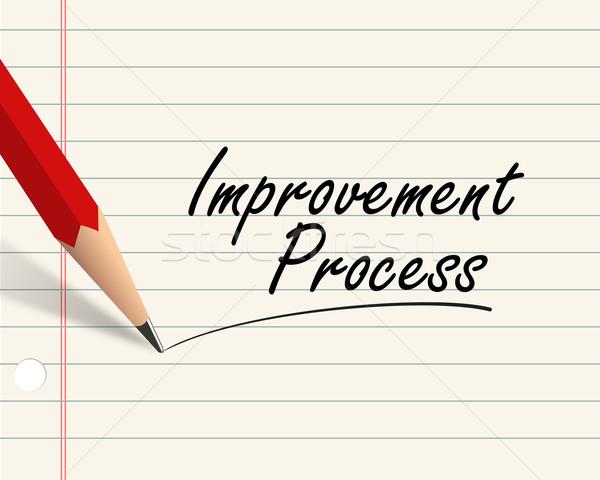 Pencil paper - improvement process Stock photo © nasirkhan