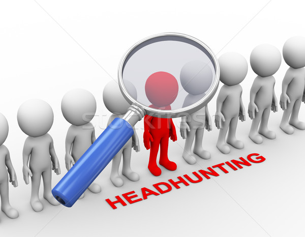3d magnifying glass search for executive Stock photo © nasirkhan