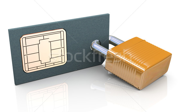 3d protected simcard Stock photo © nasirkhan
