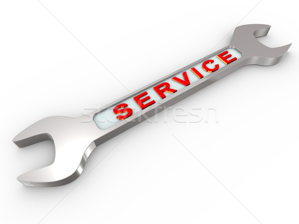3d service wrench Stock photo © nasirkhan