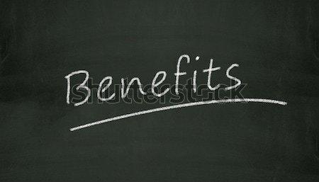 chalkboard benefits illustration Stock photo © nasirkhan