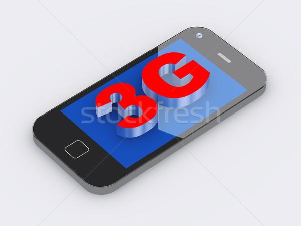 3g Smart мобильного телефона 3D поколение Сток-фото © nasirkhan