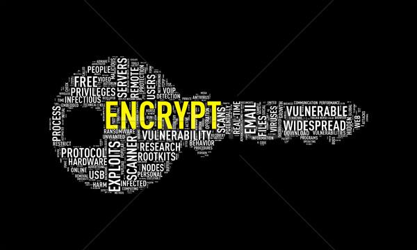 Key shape wordcloud tag encrypt Stock photo © nasirkhan