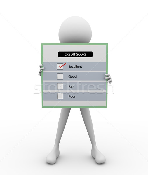 3d man with questionnaire Stock photo © nasirkhan