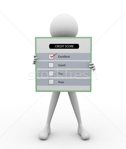 3d man questionnaire enquête affaires succès marketing Photo stock © nasirkhan