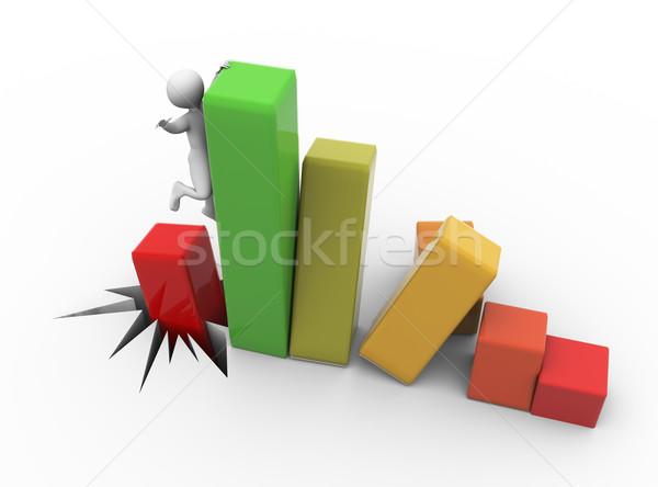3D ビジネスマン ヘルプ 金融 ストックフォト © nasirkhan