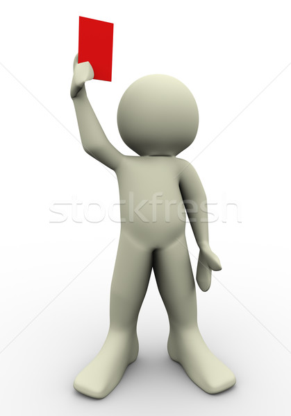 3d referee Stock photo © nasirkhan