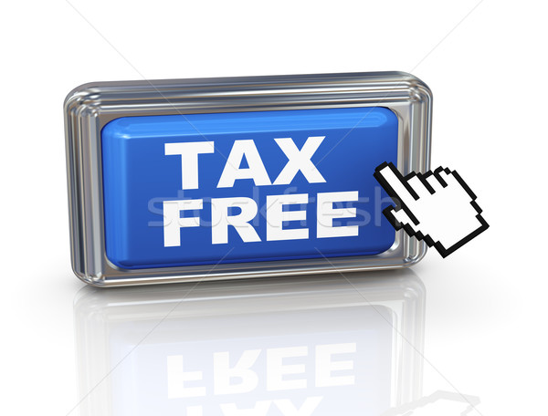 3d hand cursor button - tax free Stock photo © nasirkhan