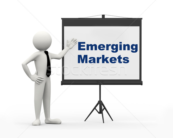 3d businessman - emerging markets Stock photo © nasirkhan