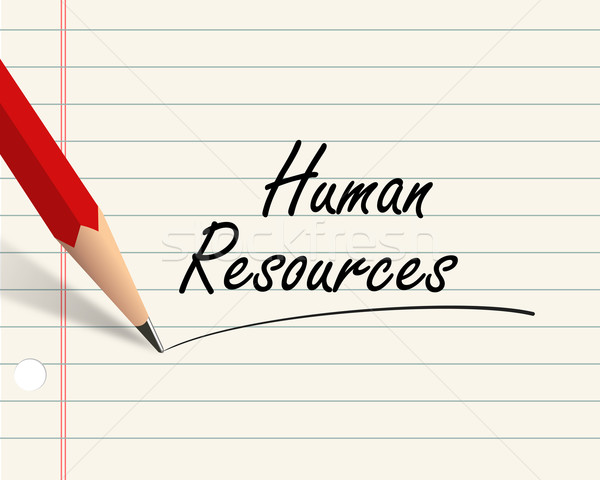 Pencil paper - human resources Stock photo © nasirkhan