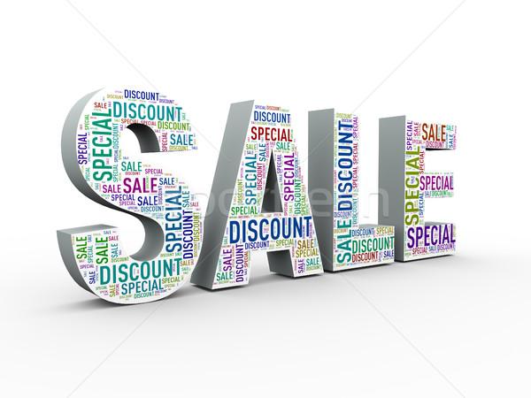 3d sale special discount wordcloud Stock photo © nasirkhan