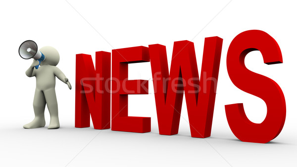 3d man news announcement Stock photo © nasirkhan
