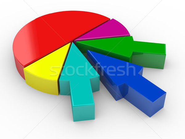 3d arrow pie chart Stock photo © nasirkhan