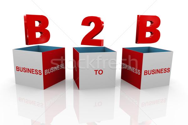 3D ボックス b2b ビジネス 3次元の図 頭字語 ストックフォト © nasirkhan