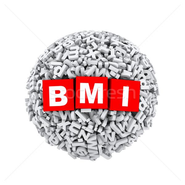 3d alphabet letter character sphere ball bmi Stock photo © nasirkhan