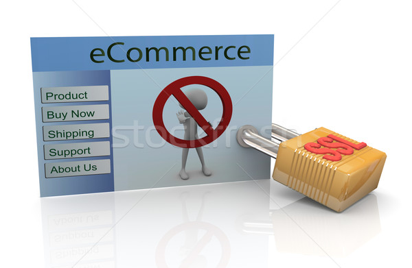 Concept of secure ecommerce Stock photo © nasirkhan