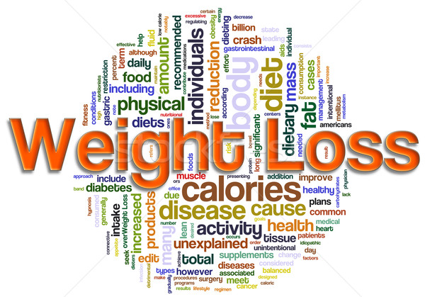 wordcloud of weight loss Stock photo © nasirkhan