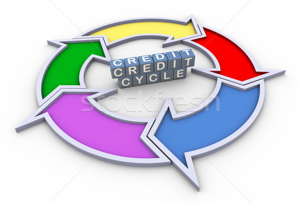 3d credit cycle flowchart Stock photo © nasirkhan