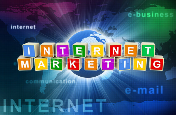 3d internet marketing Stock photo © nasirkhan