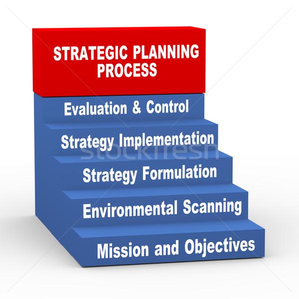 3d strategic planning process Stock photo © nasirkhan