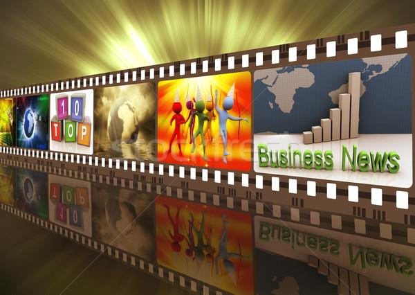 Movie reel Stock photo © nasirkhan
