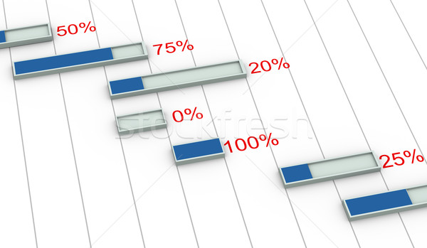 3D диаграммы процент прогресс 3d визуализации Сток-фото © nasirkhan