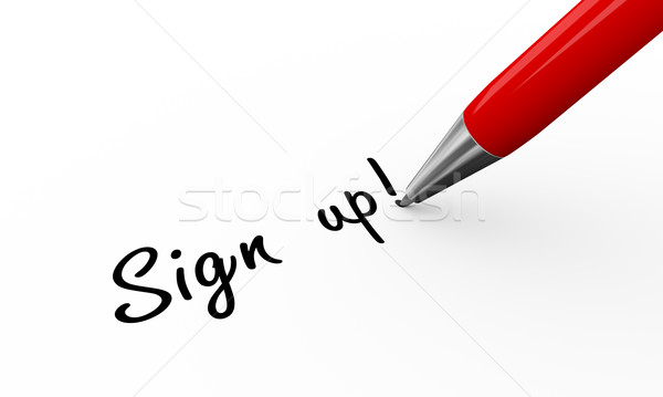 3d pen writing sign up Stock photo © nasirkhan