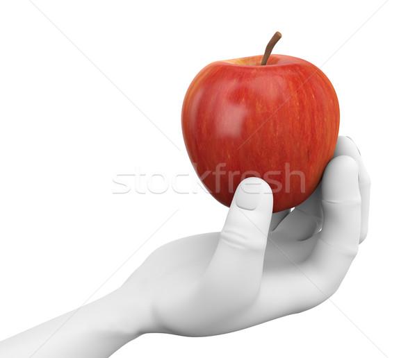 3D mano manzana roja mano humana Foto stock © nasirkhan